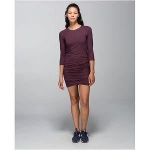 RARE 🦄 Lululemon Anytime Dress Bordeaux Drama 4